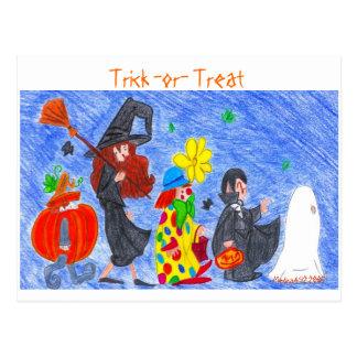 Trick -or- Treat Postcard