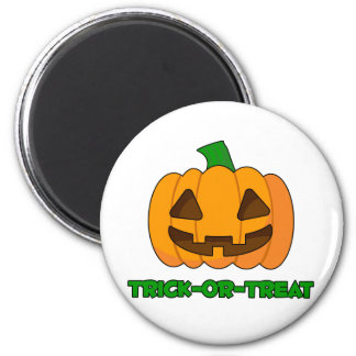 Trick-or-Treat Pumpkin 6 Cm Round Magnet