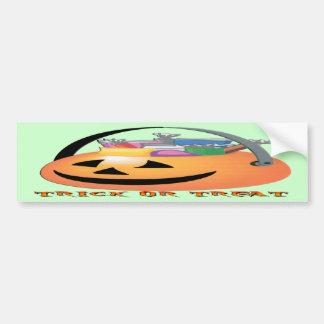 Trick or Treat Pumpkin Car Bumper Sticker