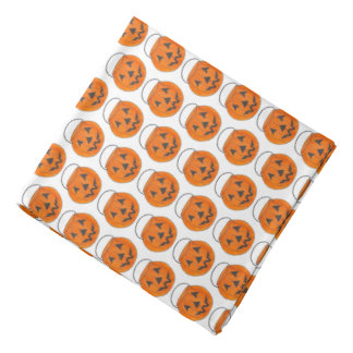 Trick or Treat Pumpkin Jack o' Lantern Halloween Bandana