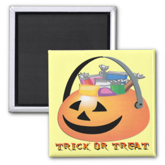 Trick or Treat Pumpkin Magnet