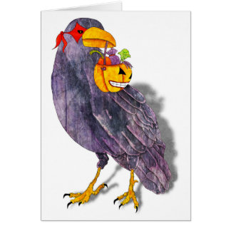 Trick or Treat Raven Card