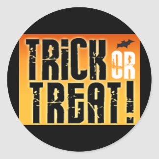 Trick or Treat Round Sticker