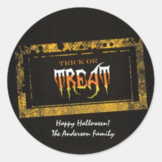 Trick or Treat Sickers Classic Round Sticker