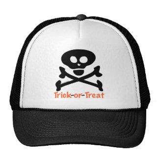 Trick-or-Treat Skull Crossones Trucker Hats