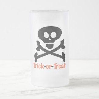 Trick-or-Treat Skull Crossones Mug