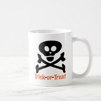 Trick-or-Treat Skull Crossones Coffee Mugs