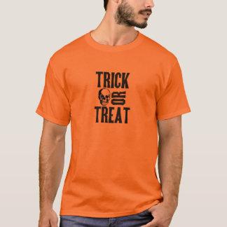 Trick or Treat skull halloween t shirt