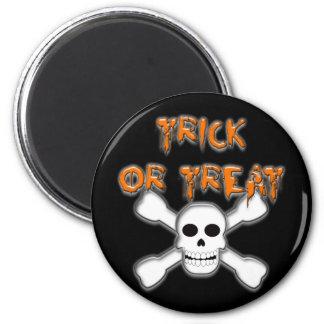Trick or Treat - Skull Refrigerator Magnet