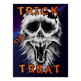 Trick Or Treat Skull Print