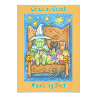 Trick or Treat - Smell my feet 13 Cm X 18 Cm Invitation Card