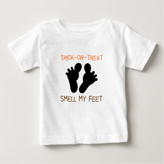 Trick or Treat Smell my Feet Baby Tee