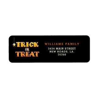 Trick or Treat Spider Halloween Return Address Label