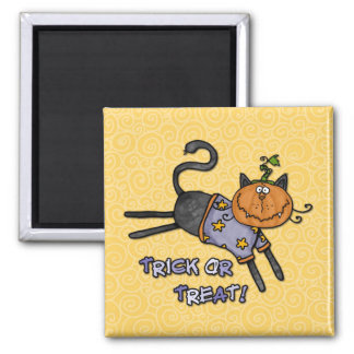 trick or treat square magnet