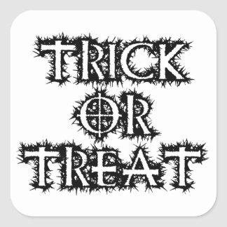 Trick or Treat Square Sticker
