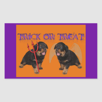 Trick or Treat Rectangle Sticker