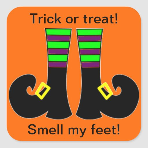 Trick or Treat! Square Stickers