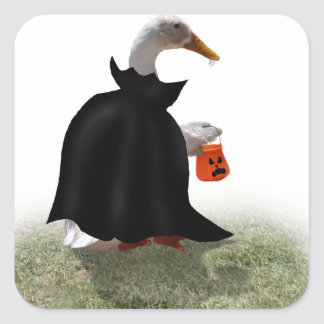 Trick or Treat Time for Dracula Duck Stickers