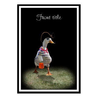 Trick or Treat Time for Pirate Duck Business Cards