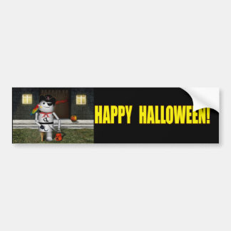 Trick or Treat Time for Robo-x9 Bumper Stickers