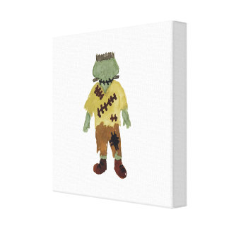 Trick or Treat Toddler Frankenstein Monster Canvas Print