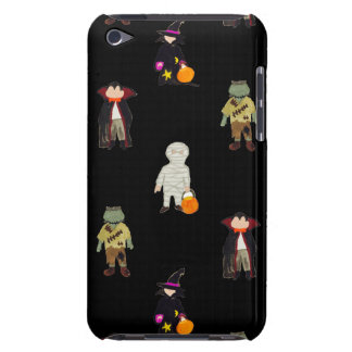 Trick or Treat Toddlers All Monsters Repeat Black Barely There iPod Case