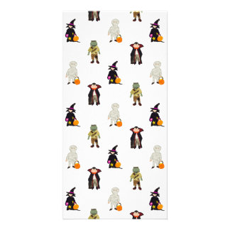 Trick or Treat Toddlers Halloween Monsters Repeat Photo Greeting Card
