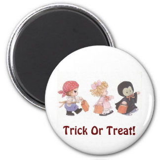 Trick Or Treat Trio! - Halloween Magnet 2 Inch Round Magnet