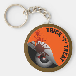 Trick or Treat : What's hiding inside? Basic Round Button Key Ring