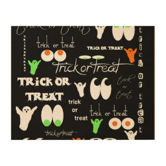 Trick or Treat Wood Canvases