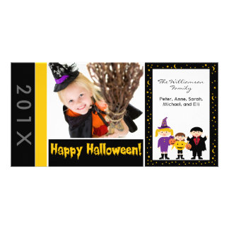 Trick-or-Treaters Family Halloween Photocard Picture Card