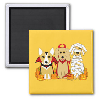 Trick or Treaters! Square Magnet