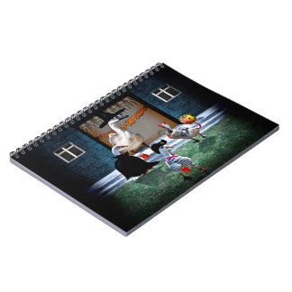Trick or Treating Ducks Spiral Notebook