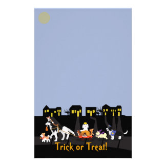 Trick or Treating Pets Custom Stationery