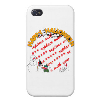 Trick or Treating Snowmen Photo Frame Case For The iPhone 4