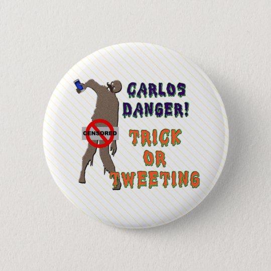 Trick or Tweet 6 Cm Round Badge