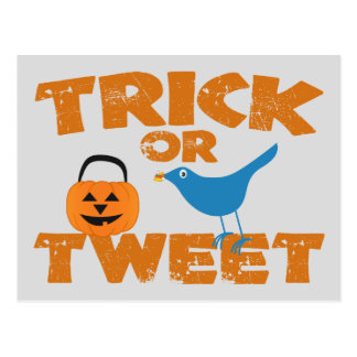 Trick or Tweet Postcard