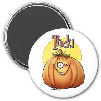 Trick Pumpkin button 7.5 Cm Round Magnet