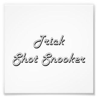 Trick Shot Snooker Classic Retro Design Photo Art