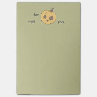 Trick Treat Boo Pumpkin Halloween Post-It Note