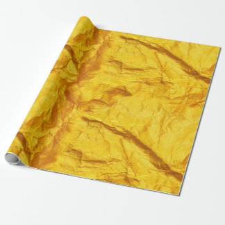 Tricking Gold Rough Creased Metallic Abstract Wrapping Paper