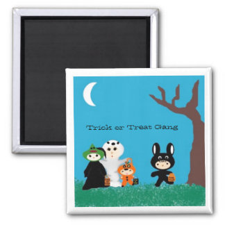 Trickortreatfriends, Trick or Treat Gang Square Magnet