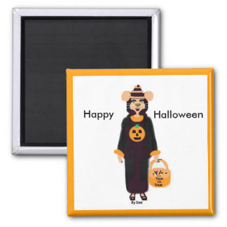 trickortreatmouse, Happy, Halloween Refrigerator Magnets