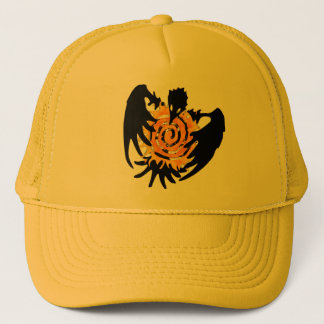 Trickster Raven With Spiral Sun Trucker Hat