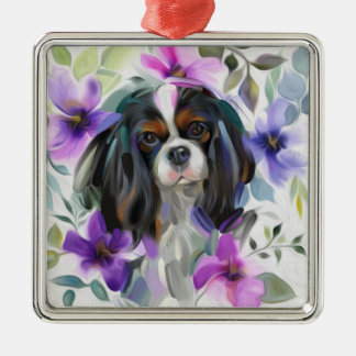 Trico Cavalier Christmas Ornament | purple Floral
