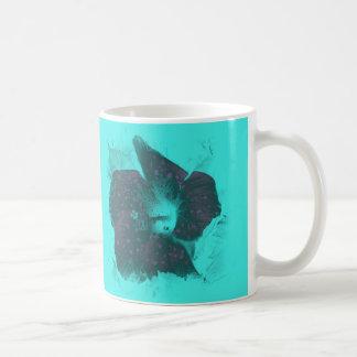 Tricolor Abstract Hibiscus Coffee Mug