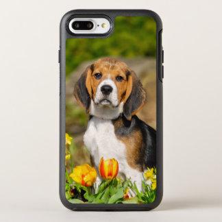 Tricolor Beagle Dog Puppy Photo on Protection OtterBox Symmetry iPhone 8 Plus/7 Plus Case