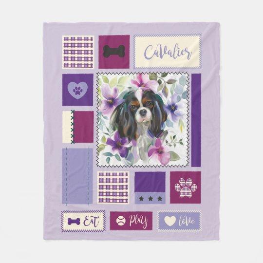 Tricolor Cavalier blanket purple | Medium