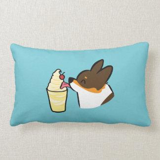 Tricolor Corgi Pineapple Dole Whip Lumbar Pillow