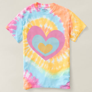 Tricolor heart t-shirts